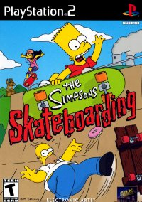 Обложка The Simpsons Skateboarding
