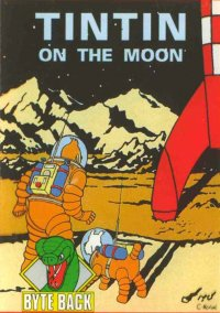 Обложка Tintin on the Moon