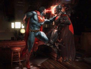 Супермен избивает Бэтмена всюжетном трейлере Injustice2