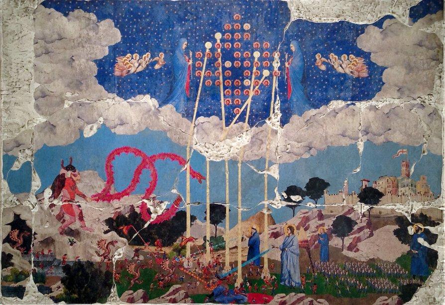 Художник нарисовал фрески на библейские сюжеты с видеоиграми  - Изображение 1