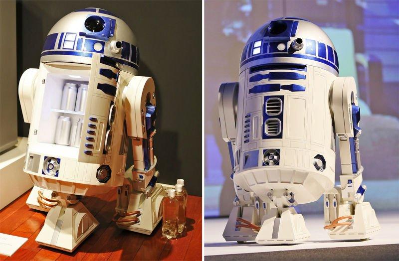 Мечта киномана – передвижной холодильник R2-D2 с кинопроектором - Изображение 1