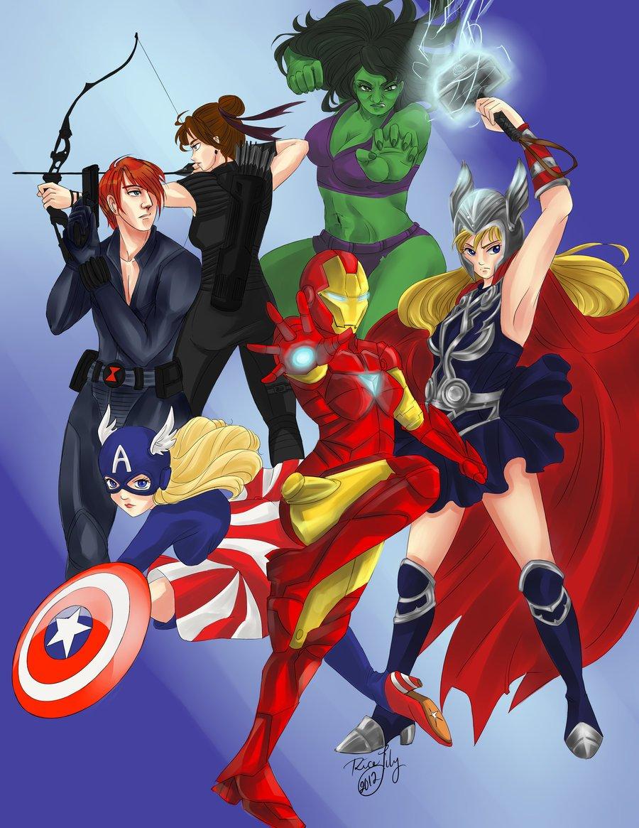 Галерея вариаций: Мстители-женщины, Мстители-дети... - Изображение 31