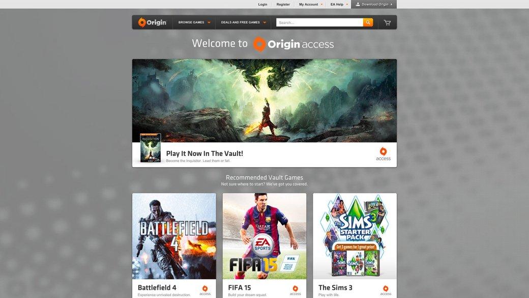 EA запустила Origin Access: бесплатные игры, ранний доступ по подписке - Изображение 2