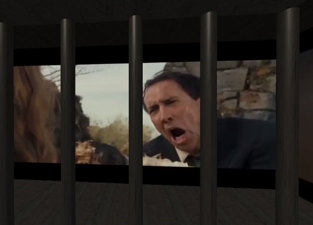 Вweb-сети открыли «клетку пыток» с постоянной трансляцией фильмов Николаса Кейджа