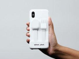 Если ешь, не отрываясь от смартфона: чехол sphoon_phork превращает iPhone в ложку или вилку