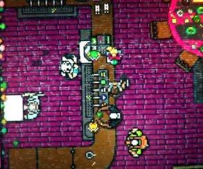 Герой Hotline Miami 2 орудует бензопилой в трейлере игры