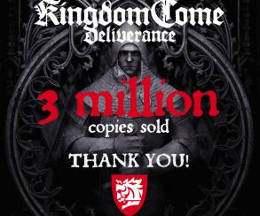 Продажи Kingdom Come: Deliverance превысили три миллиона копий