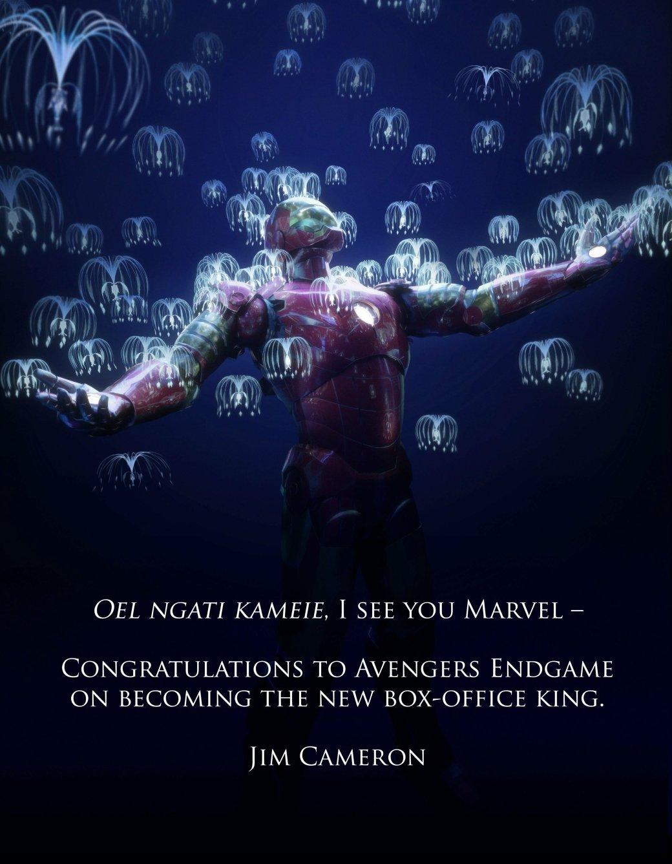 Джеймс Кэмерон поздравил «Мстителей: Финал» спокорением топа кассовых сборов красивейшим артом | Канобу - Изображение 2