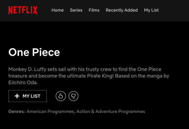 НаNetflix появилась страница сериала поOne Piece. Ждем еще одну ужасную западную адаптацию? | Канобу - Изображение 3817
