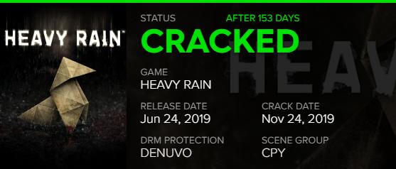 Спустя пять месяцев ПК-версию Heavy Rain все же взломали