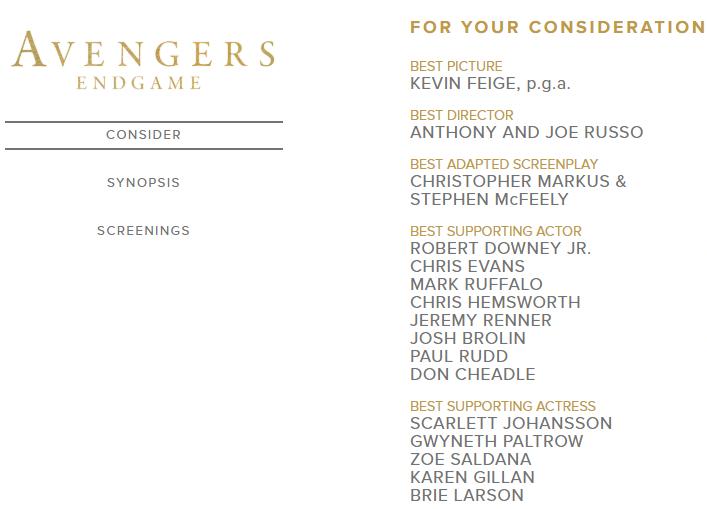 Disney выдвинула 13 актеров из«Мстителей: Финал» на«Оскар» | Канобу - Изображение 0