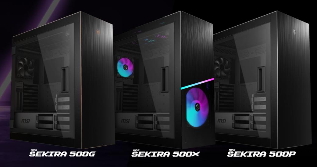 MSI представила трио игровых корпусов MPG Sekira 500   Канобу - Изображение 1