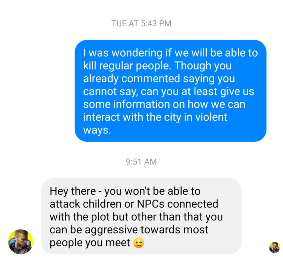 ВCyberpunk 2077 неполучится убить сюжетныхNPC. Детей трогать тоже нельзя | Канобу - Изображение 2