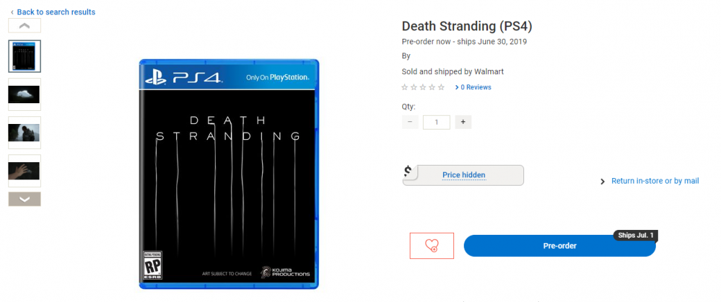 Магазин Walmart Canada сообщил, когда выйдет Death Stranding. Но никаких подтверждений пока нет   Канобу - Изображение 2