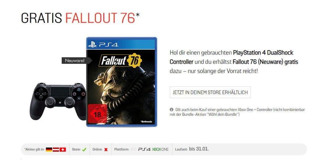 Отчаяние во плоти: в магазинах Европы копии Fallout 76 уже отдают в подарок к подержанным геймпадам | Канобу - Изображение 2