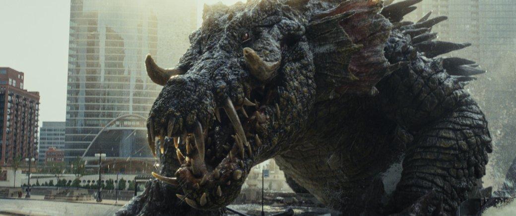 Огромные, жуткие животные иотважный Дуэйн Джонсон нановых кадрах фильма «Рэмпейдж». - Изображение 7