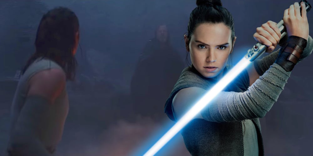 Звёздные войны. Эпизод 8: Последние джедаи / Star Wars VIII: The Last Jedi [2017]: Неужели в этой сцене Рей сражается с Люком?! Еще одна теория о «Последнем джедае»